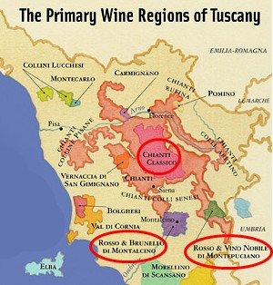 Chianti Region Italy Map.Vino Nobile West Concord Liquors